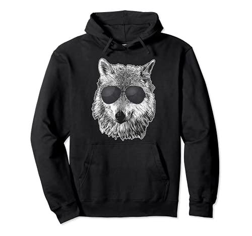 Wolf Boss - Gafas de sol negras - Tema de lobos Sudadera con Capucha