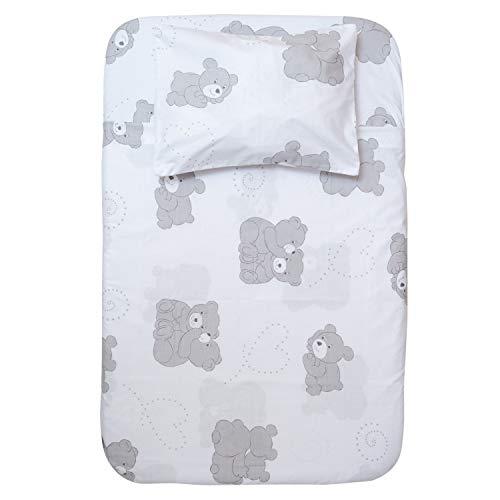 Cangoo Parure de lit 4 pièces pour landau, berceau Cosleeping, Next2Me, 100 % coton, 2 draps, 1 drap plat, 1 taie d'oreiller