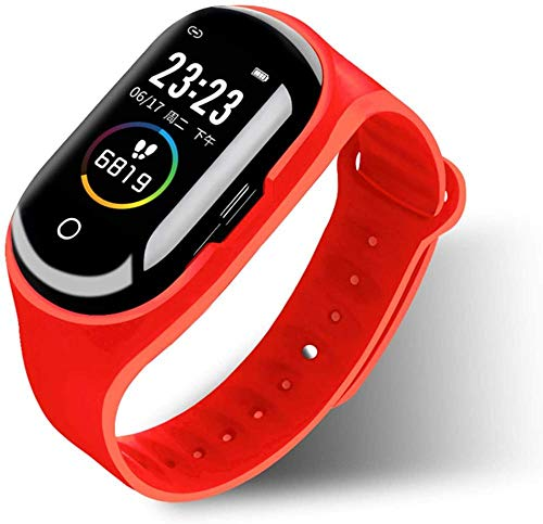 Reloj inteligente con pantalla a color, Bluetooth 5.0, combo de auriculares, pulsera inteligente, podómetro, frecuencia cardíaca, control de presión arterial, reloj inteligente (Color: C)-B