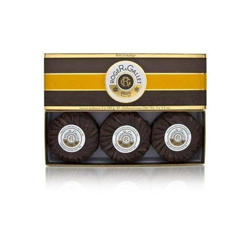 消費財政スイス人ロジェガレ ボワ ドランジュ (オレンジツリー) 香水石鹸3個セット ROGER&GALLET BOIS D'ORANGE PERFUMED SOAP [0161]