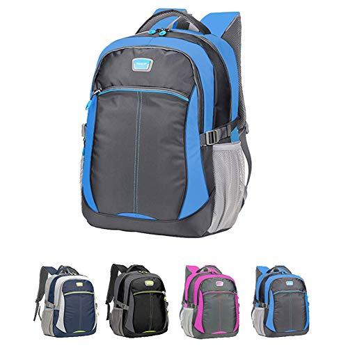 Waterdichte canvas rugzak, middelbare school student boekentas voor Unisex/46 * 33 * 22cm Daypack
