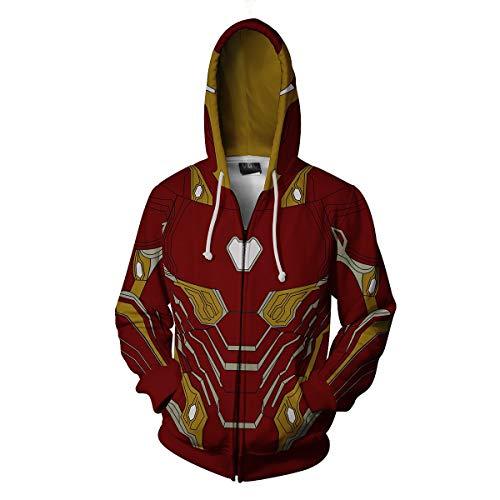 Unisex 3D Stampa Felpe Con Cappuccio Super Hero Iron Man Giacca Con Cappuccio Felpa Cosplay Cappotto C01 S