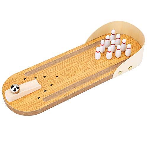 VGEBY1 Tisch Bowling Set, Kegelspiel für Kinder Tisch Mini Bowling Game Set mit Hölzernen Desktop Dekoration für Kinder Spiel