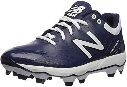 New Balance Men's 4040 V5 TPU Molded Baseball Shoe, Navy/White