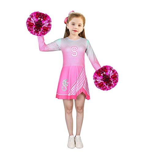 JCHEGN Cheerleader Costume for Girls Cheerleading Outfits Rose