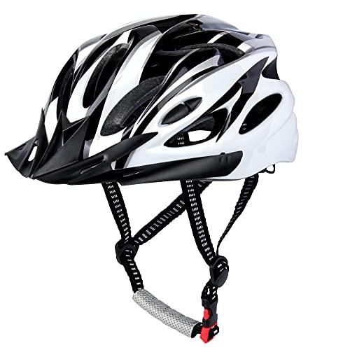 Casco de Bicicleta, Casco de Ciclismo, Casco Bicicleta Adulto Montaña, Visera y...
