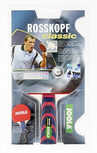 JOOLA Tischtennisschläger ROSSKOPF CLASSIC ITTF zugelassener Tischtennis-Schläger für Profi- oder Vereinsspieler - Compwood Technologie, mehrfarbig, 2,00 MM Schwamm