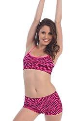 Kurve Neon Fuchsia Zebra Dance Bra To