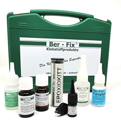 Ber-Fix® Koffer mit Inhalt der Profi Klebstoff Werkzeug Kasten für Auto, Boot und Sport
