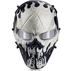 top rated OutdoorMaster Air Soft Mask-Full Face Mask Eye Protection Mask (Will-o'-The-wisp) 2021