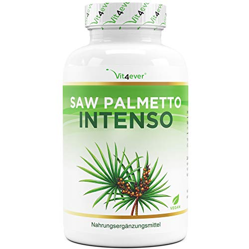 Saw Palmetto Extrakt - 180 Kapseln mit 500 mg Extrakt - Premium: 5{202ad7cc3f71ac7972f75a0f92d4ba215b052bc6f3170b5dd0bd4f0a196aef94} Phytosterole = 25 mg - Hochdosiertes Sägepalmextrakt - Laborgeprüft - Ohne unerwünschte Zusätze - Vegan