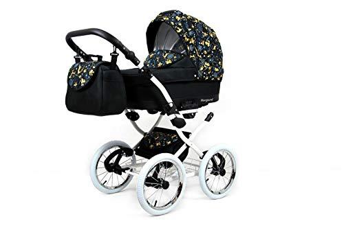 Kinderwagen 3in1 Retro Autositz Buggy Isofix Luftreifen Nostalgica by Saintbaby Gold Deer 2in1 ohne Babyschale