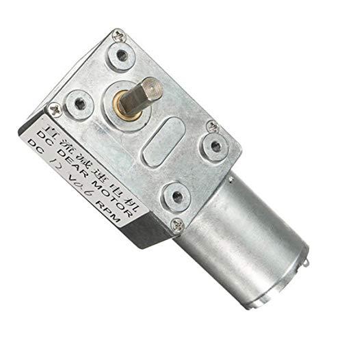 12V 12RPM Micro DC Worm Gear Box Motor Haute Vitesse de Couple R/éduire Turbine