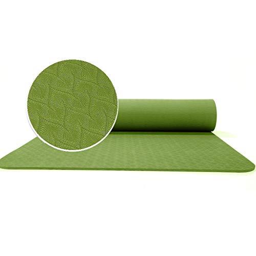 Yogamatte RENRUIRUI- rutschfeste Umweltschutz Reißfestigkeit Weicher Rückprall 6mm Sport Yoga Bodenmatte Ideal for Camping Aerobic Pilates Größe: 183x80cm (Color : Green)
