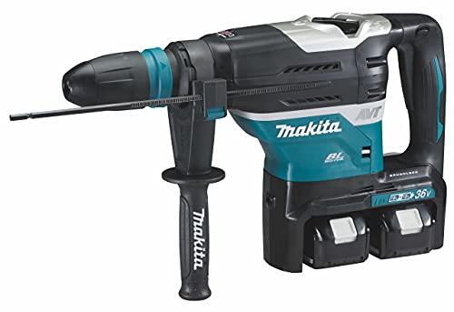 Makita DHR400PG2U Martillo combinado con batería SDS-MAX 2x 18 V, Color, Size
