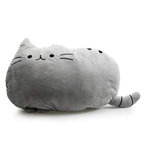 kinokoo Body Pillow Cookie Cat Back Cushion Catman Throw Pillow (grey)