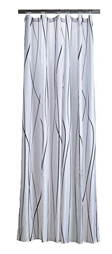 Zone Denmark 381110Polyester anthrazit, weiß Duschvorhang Vorhang Dusche Bedruckt, Polyester, anthrazit, weiß, 2m, 1800mm