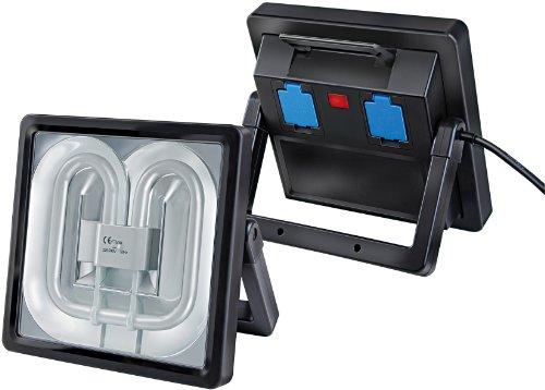 Brennenstuhl Power Jet-Light / Strahler ideal als Bauleuchte für außen und innen (heller Scheinwerfer IP54 geprüft, 5m Kabel, 55 Watt) Farbe: schwarz
