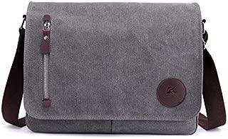 FYXKGLan Men's Bag Canvas Bag Casual Shoulder Bag Messenger Bag (Color : Grey)