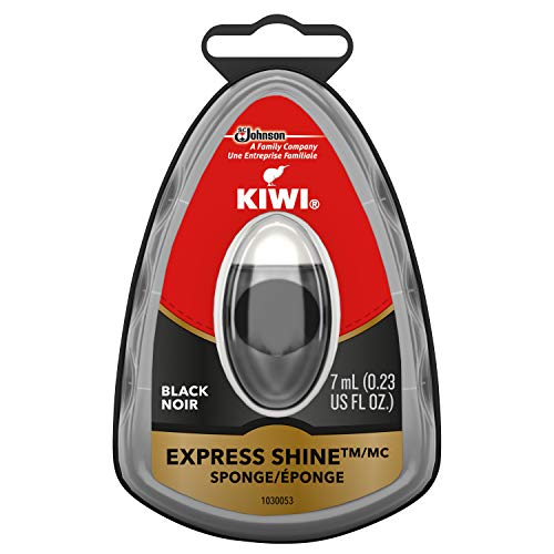 KIWI Express Shine Sponge, Black, 0.23 oz (1 Sponge)