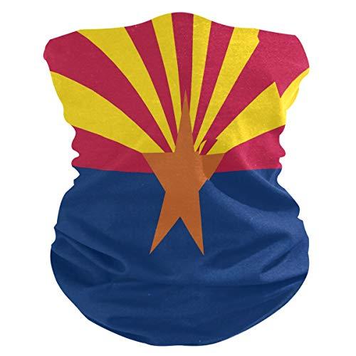 Flag of Arizona Multifunctional Seamless Bandanas Dustproof Windproof Face Mask Cooling Sunblock Face Scarf Neck Gaiter (Flag of Arizona/AZ)