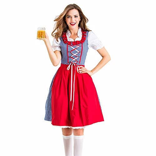 Dr.COLORFUL Disfraz de Mujer para Adultos Conjunto Tematico de Aleman con Denatal Fiestas Tematicas, Oktoberfest o Despedidas de Soltero