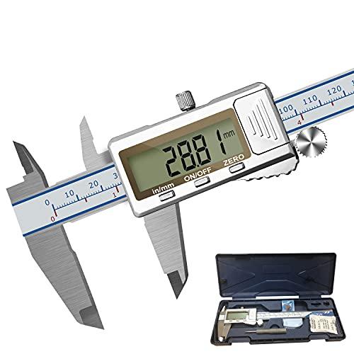 Calibro Digitale Acciaio 150mm 6 Pollici Calibre Analogico Professionale Micrometro Righello Schermo LCD Acciaio Inossidabile Misuratore Di Profondità Del