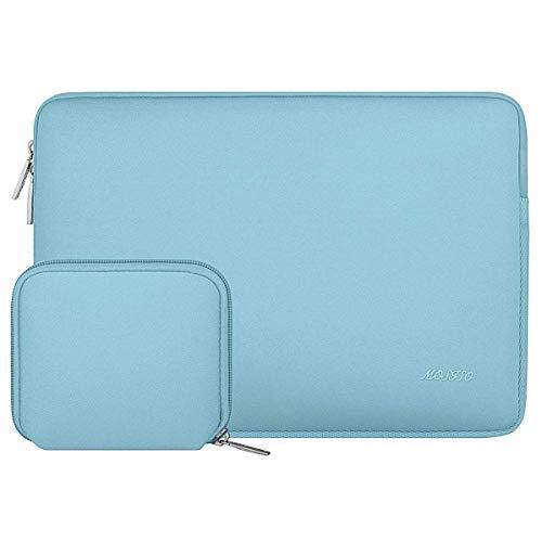 MOSISO Wasserabweisend Neopren Hülle Sleeve Tasche Kompatibel mit 13-13,3 Zoll MacBook Pro, MacBook Air, Notebook Computer Laptophülle Laptoptasche Notebooktasche mit Kleinen Fall, Heiß Blau