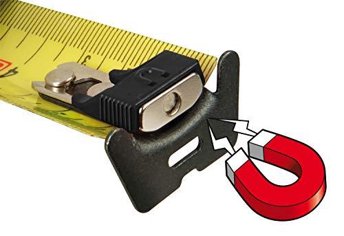 Stanley FatMax Bandmaß Blade Armor, Magnethaken (5 m Länge, Feststeller, automatischer Rücklauf, Gürtelclip) FMHT0-33864