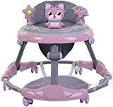 Adjustable Baby Walker, Activity Walker with Music and Removable Game Tray, Universal Wheeled