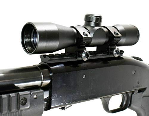 TRINITY Mossberg 500/590/835 Scope Mount 4x32 Mildot Reticle Scope Optic Hunting Tactical Spotting Aluminum Black Picatinny Weaver Base Mount Adapter Single Rail.