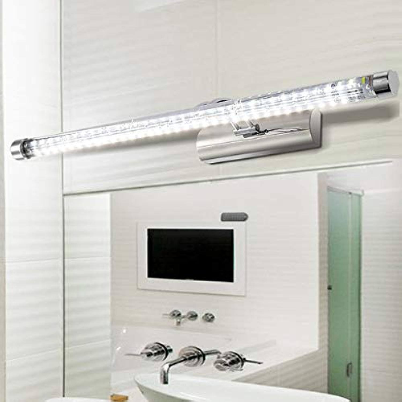 WENYAO Die Erntezeit führte Wand-Lampen-Spiegel-vorderes Licht-Moderne Badezimmer-Badezimmer-Lampen-Edelstahl-Beleuchtung