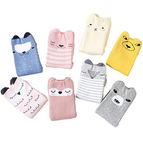 Lingqiqi Chaussettes Anti-Glisse Chaussettes Hautes pour bébés, Fille, garçon, Bas bébé et Enfant en Bas âge Bébé en Bas âge (Taille : S)