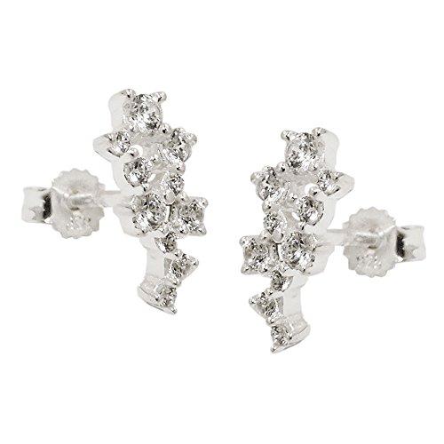 Orecchino a perno 93738 - Flower Zirconia Silver 925
