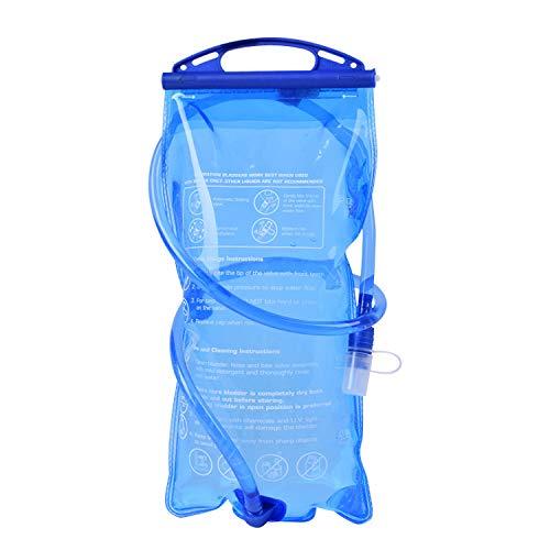 ハイドレーションパック 2L 給水袋 ウォーターパック 持手付 スポーツや屋外作業時の給水に 軽量PEVA製 ウォーターキャリー 抗菌仕様 水補給袋 屋外での水分補給に FMTWP2019L2