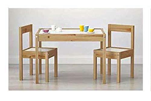ikeaa Ikea Tavolino Sedie Set Cameretta per Bambini Tavolo e 2 Sedie in Legno Lettura Gioco per la cameretta o per Asilo Nido
