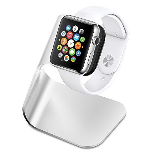 Spigen Soporte de Carga, S330 diseñado para Apple Watch Serie 5/ Serie 4 / Serie 3 / Serie 2 / Serie 1 / 44mm / 42mm / 40mm / 38mm - Aluminum