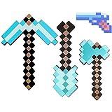 Wohlhabende Mine - Basteln Sie EIN Blaues Diamantschwert- Und Spitzhackenset, Eine Diamant-Spitzhacke Und Eine Axtblasen-Kopie (Picaxe, Axt, Schaufel Usw.)