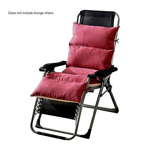 Luckything Ligstoel, uniseks, antislip design, kussens voor tuinligstoelen, dikke ligstoel
