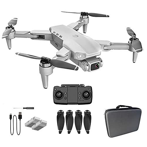 GAOFQ Drone FPV con videocamera UHD 4K Video in Diretta e Motore brushless,Quadcopter RC per Adulti Principianti con GPS Ritorno a casa,Seguimi (Grigio 2)
