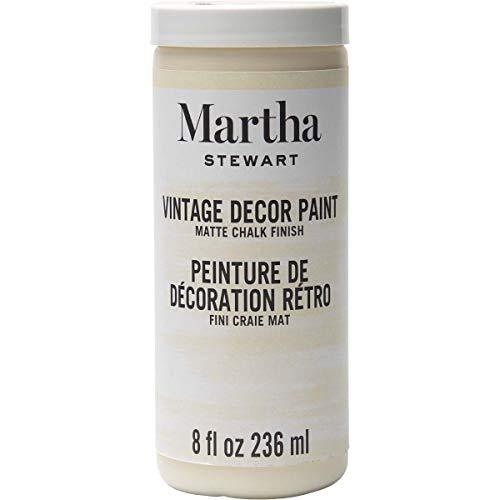 Martha Stewart Crafts 33522 Martha Stewart Vintage Decor Matte Chalk Ivory, 8 oz Paint, 8 Fl Oz