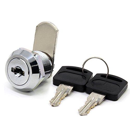 Cerradura de seguridad para buzón de acero inoxidable, armario, etc. con llaves similares de 16 mm, 16mm Drawer lock