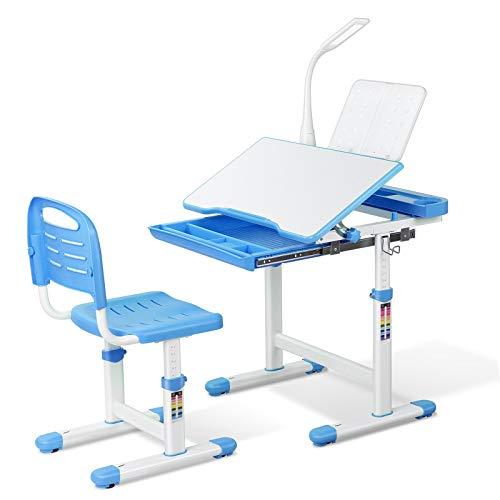 Bamny Kinderschreibtisch Schreibtisch mit Stuhl Schublade und Leseständer Kinder...