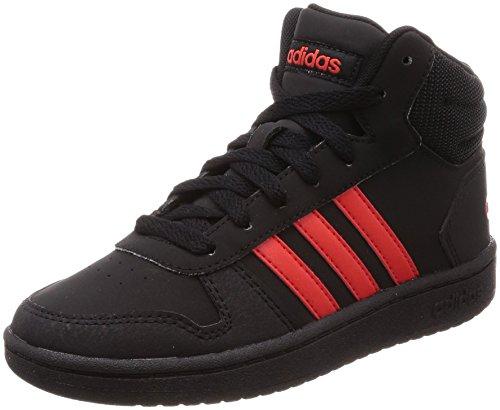 Adidas Hoops Mid 2.0 K, Zapatillas de Deporte Niños Unisex niño, Negro (Negbas/Rojbas/Negbas 000), 30.5 EU
