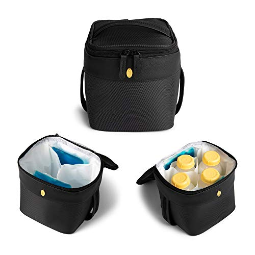 Breastmilk Cooler Bag w/ 2 Ice Packs - Idaho Jones - Roxwell | Keeps Breast Milk ICY Cold for 8 Hours – Pump & Store at Work, in The Car or at Daycare | Baby Bottle Cooler Fits 4 | Premium Design