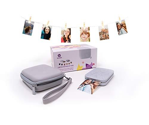 HP Sprocket Limited Edition Gift Box (HP Sprocket New Edition Fotodrucker, Etui und Lichterkette mit LED-Clips) Luna Pearl