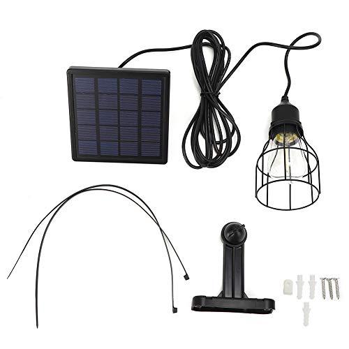 Zer one1 Hanging Light, 5V E27 Solar Panel Lamp, LED Solar Light Roofs for Warehouses Doorways Garden