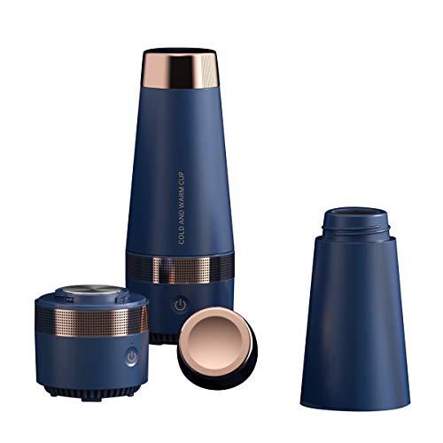 Tragbare USB-Thermoskanne für heiße und kalte Getränke, Thermo-Kaffeetasse, doppelwandiger Isolator, Thermoskanne für Auto, beheizbar
