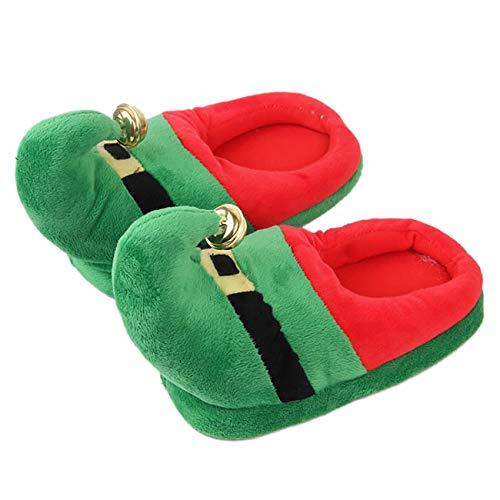 Feynman Hausschuhe Weihnachten Elfen Herren Damen Sandal Warm Xmas Geschenk