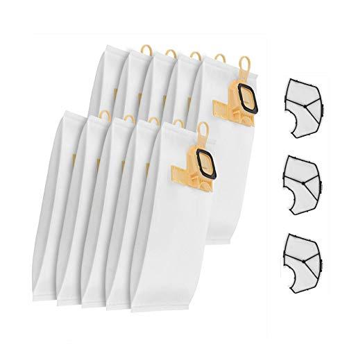 KOOLEAN 10 bolsas para aspiradora Vorwerk Kobold VK140/150 + 3 filtros de color amarillo